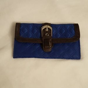Royal Blue Quilted Wallet